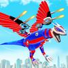 uçan dinozor robot yap şehir saldırısı robot oyunu simgesi