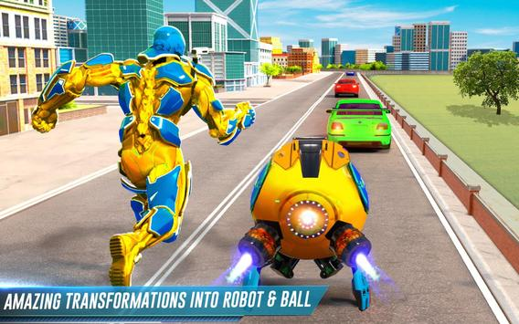 Futuristic Ball Robot Transform: Robot Games screenshot 4