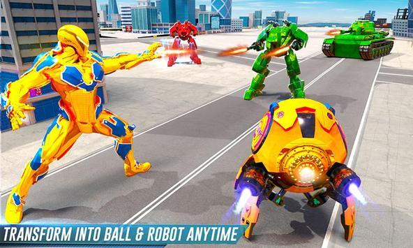 Futuristic Ball Robot Transform: Robot Games screenshot 2