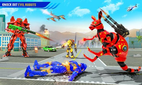 Grand Kangaroo Robot Car Transformation Robot Game poster