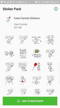 Cami Camila Stickers de WhatsApp 海报