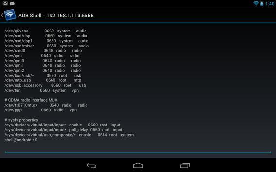 Remote ADB Shell captura de pantalla 7