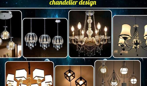 chandelier design poster