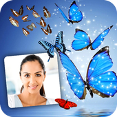 Butterfly Photo Frame Editor HD Background Maker icon