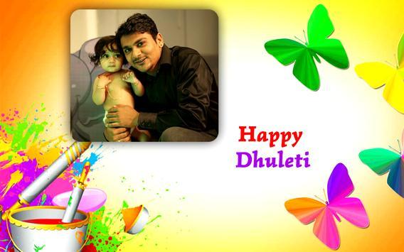 Happy Dhuleti Photo Frame Editor poster