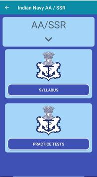 Indian Navy AA SSR Practice Tests With Solutions screenshot 1