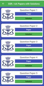 Indian Navy AA SSR Practice Tests With Solutions screenshot 2