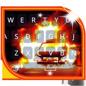Keyboard Burning Car Themes icon