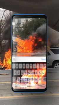 Keyboard Burning Car Themes screenshot 3
