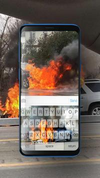 Keyboard Burning Car Themes poster