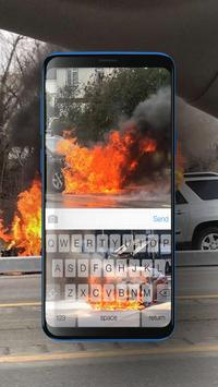 Keyboard Burning Car Themes screenshot 1