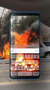 Keyboard Burning Car Themes screenshot 2