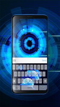 Keyboard Neon Blue Theme poster
