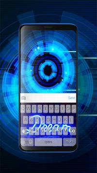 Keyboard Neon Blue Theme screenshot 1