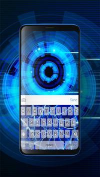 Keyboard Neon Blue Theme screenshot 2
