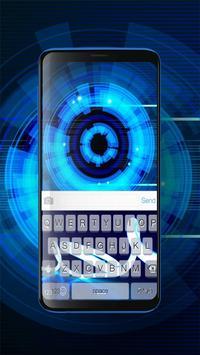 Keyboard Neon Blue Theme screenshot 3