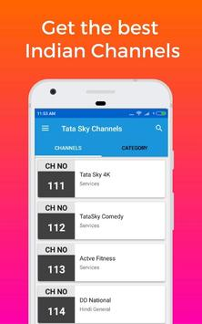 Channel List for Tata Sky India DTH screenshot 1