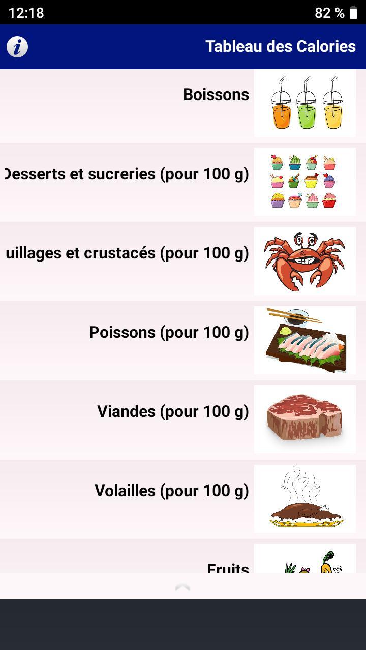 Tableau Des Calories 2020 For Android Apk Download