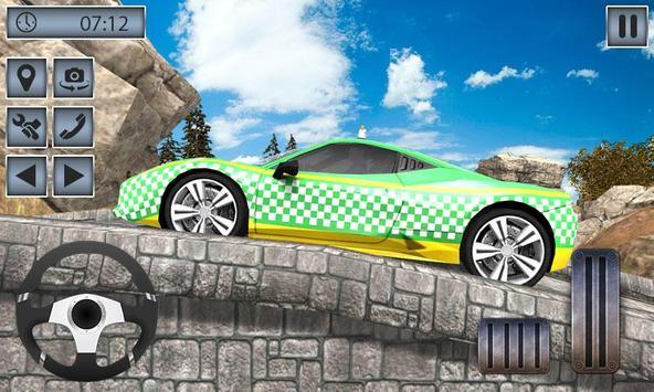 Real Taxi Mountain Climb 3D - Taxi Driving Game screenshot 2