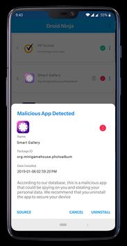 Droid Ninja - Detect Malicious Apps Spying on You poster