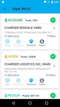 Charger Logistics Driver App screenshot 1