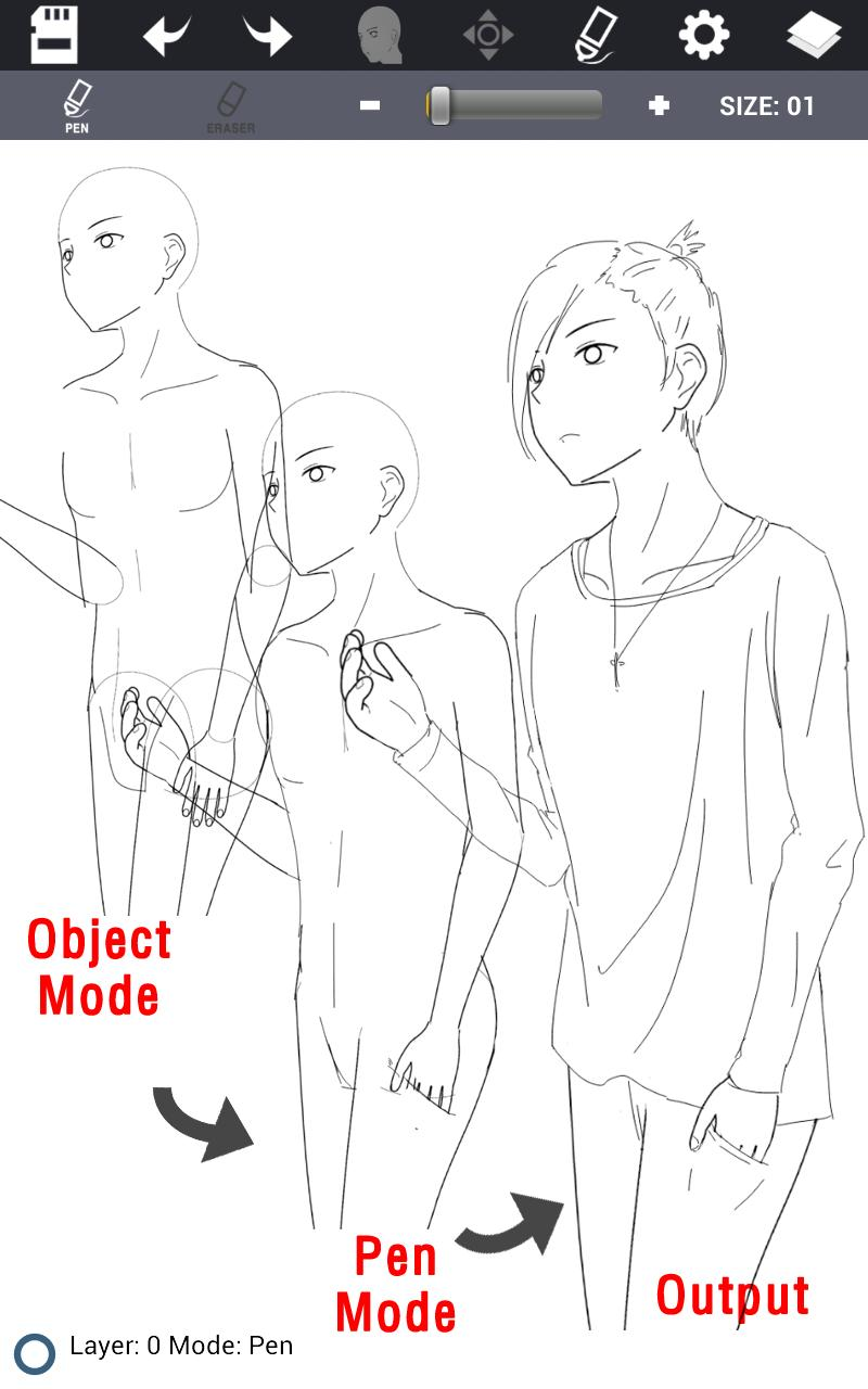 Character Maker -How to draw poster