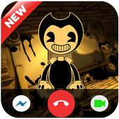 Fake call video and Chat from Bendy icon