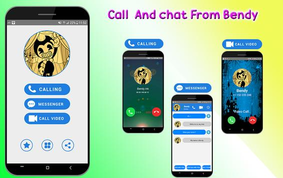 Fake call video and Chat from Bendy poster