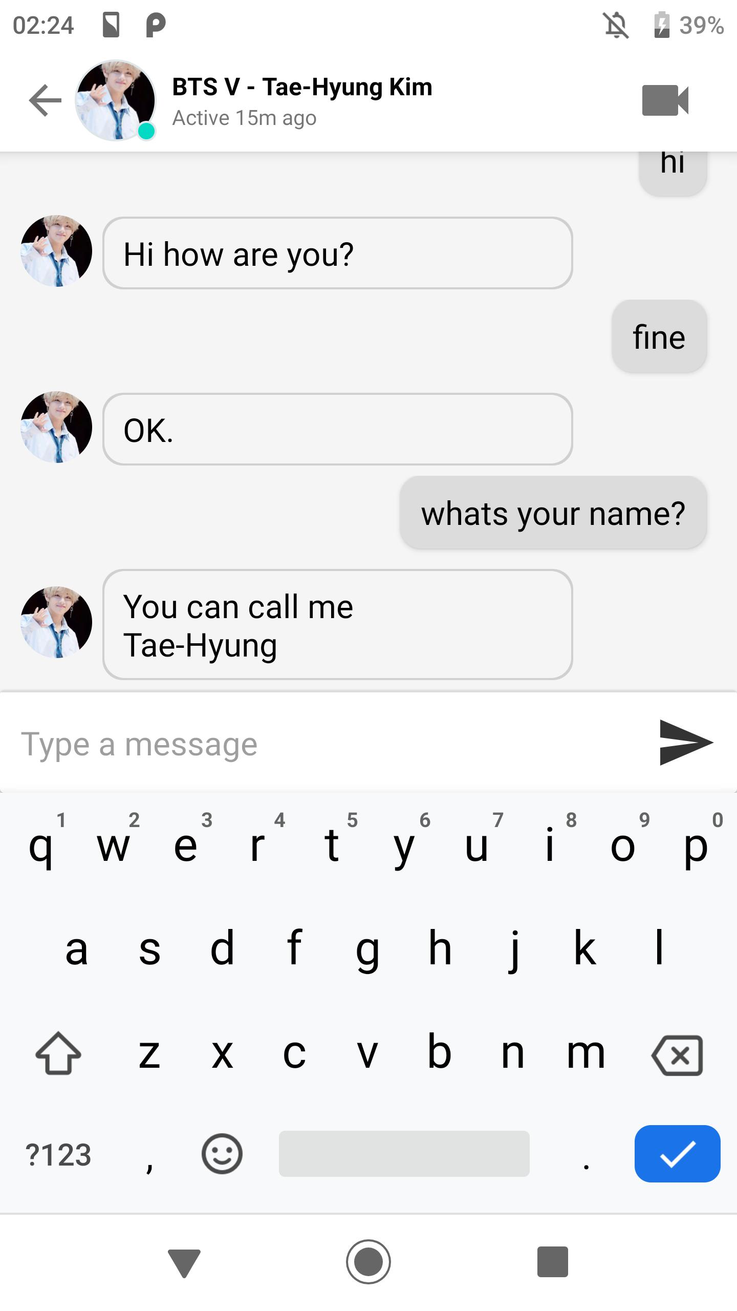Chat With Bts V Taehyung Video Call And Wallpaper For Android Apk Download