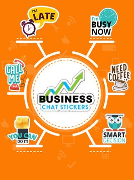 Business Chats Stickers - WAStickerApps poster