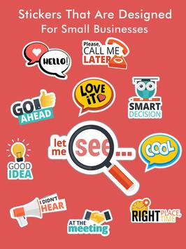 Business Chats Stickers - WAStickerApps screenshot 12