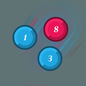 Two man game: Number drag icon