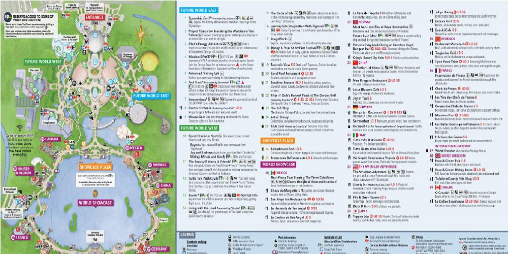 Epcot Walt Disney World Resort Park Map 2019 for Android ...
