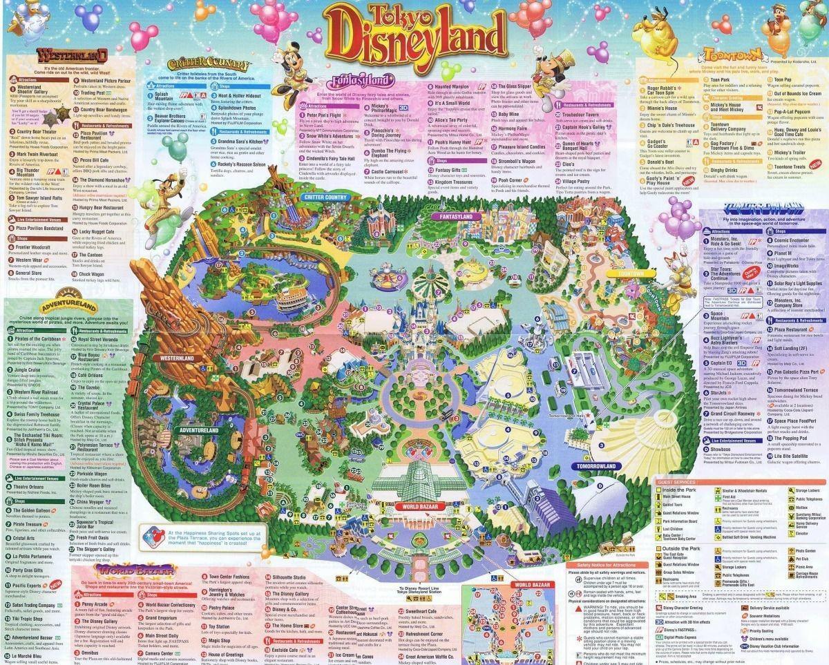 Tokyo Disneyland Park Map 2019 For Android Apk Download