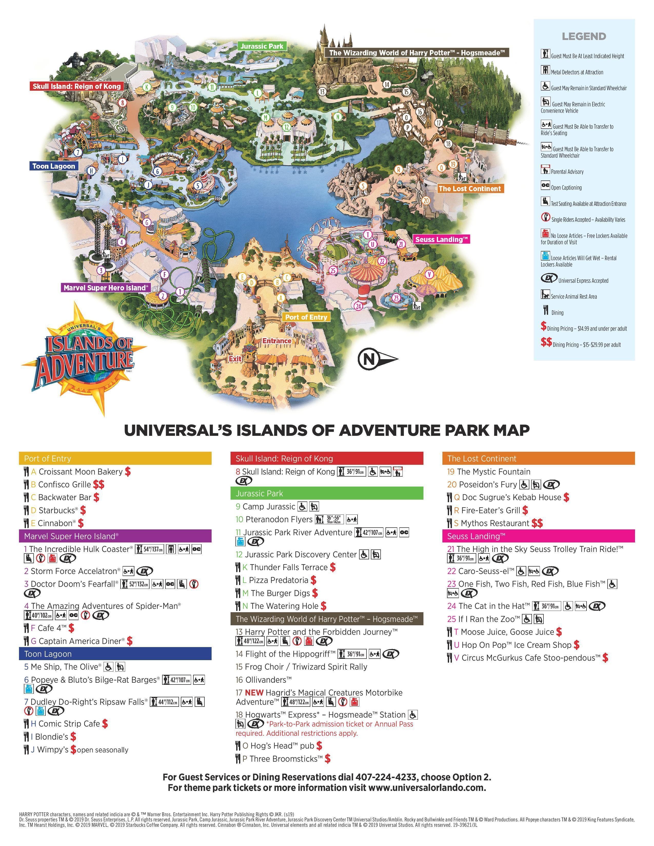 Universal Islands Of Adventure Park Map 2019 For Android Apk Download