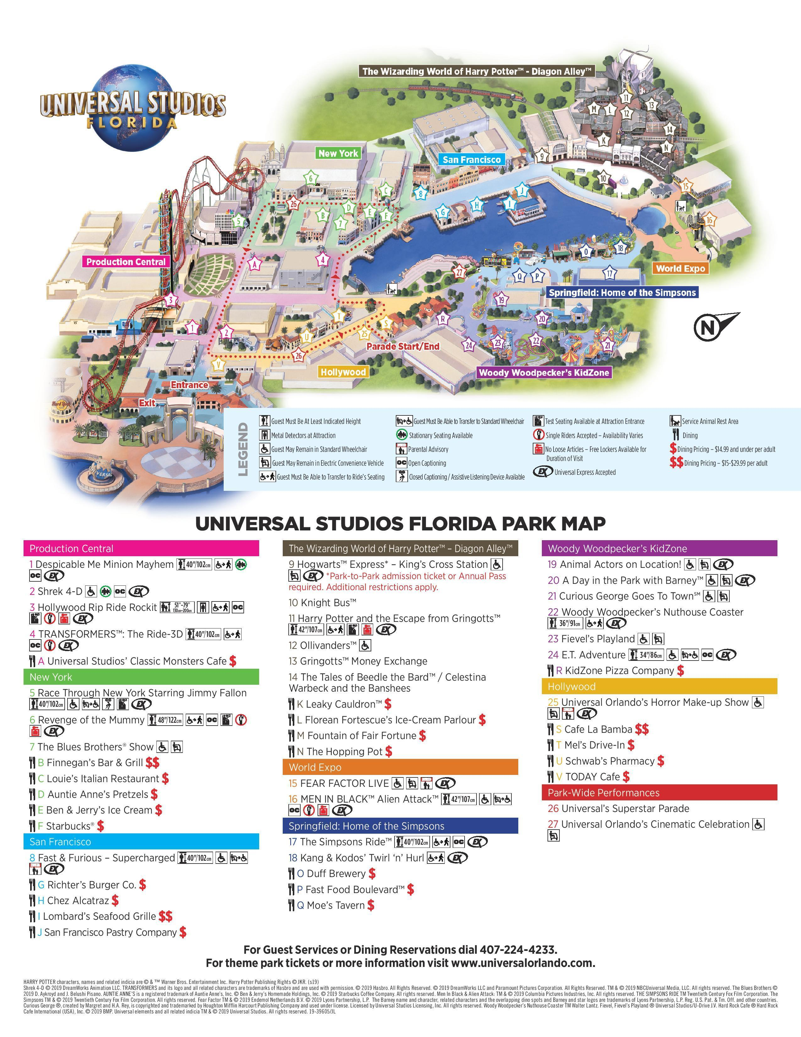 Universal Studios Florida Park Map 2019 for Android - APK ...