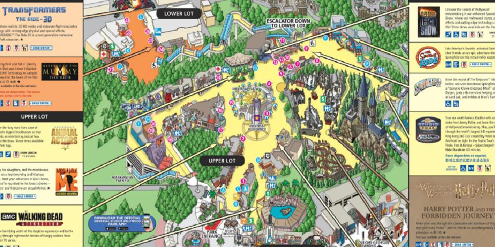 Universal Studios Hollywood Park Map 2019 for Android - APK