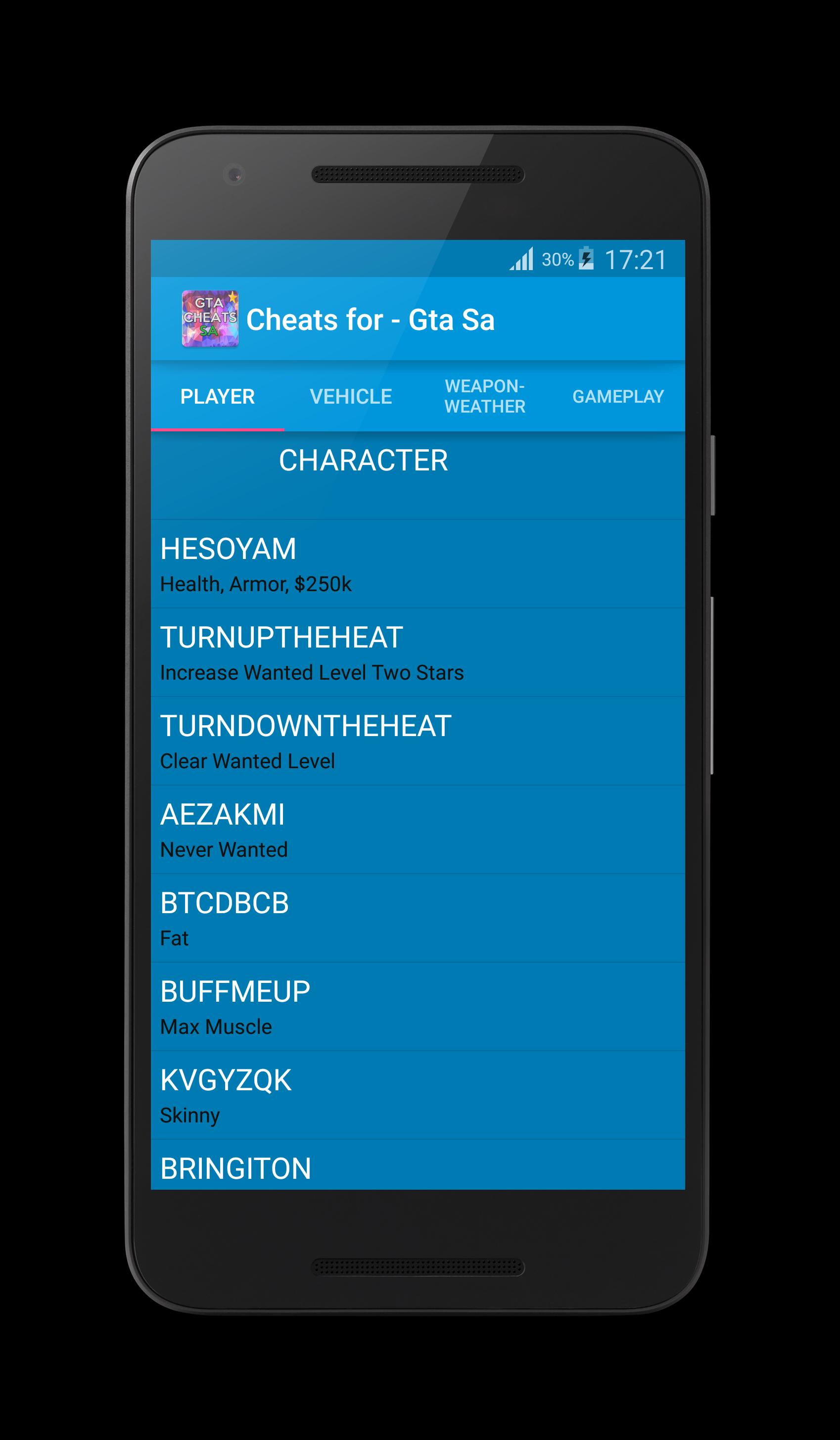 Cheat for Gta San Andreas Plus for Android - APK Download