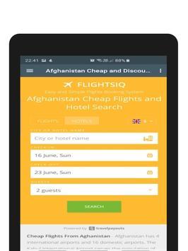Cheap and Discount Flights Afghanistan - FlightsIQ screenshot 12