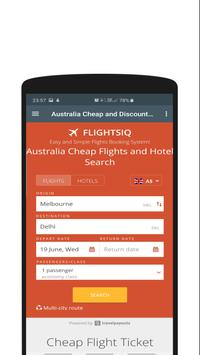 Cheap Flights Australia to India - FlightsIQ screenshot 1