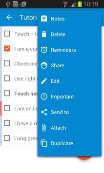 Checklist screenshot 2