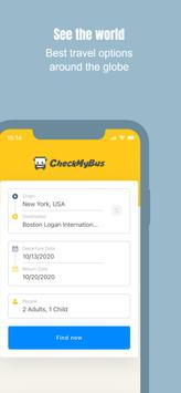 CheckMyBus: Compare and find cheap bus tickets plakat