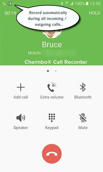 Automatic Call Recorder: Cherinbo ACR poster