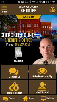 Cherokee County  AL Sheriff poster