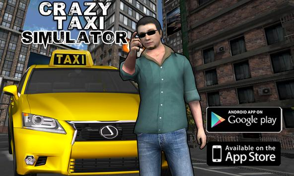 Extreme Taxi Crazy Driving Simulator Parking Games poster
