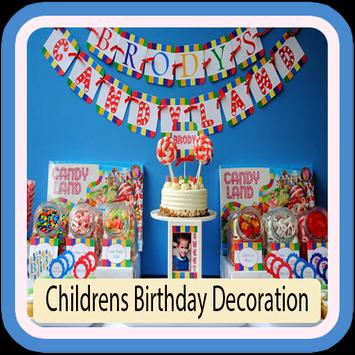 Children's Birthday Decorations poster