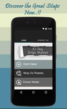 10 Day Sit-ups Workout Guide poster