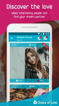 Free Dating & Flirt Chat - Choice of Love screenshot 1