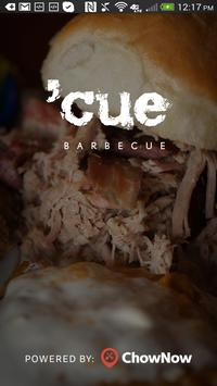 'cue Barbecue poster
