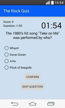 The Rock Quiz screenshot 2